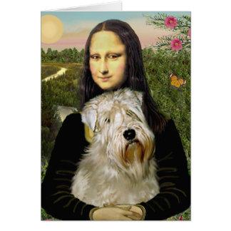 Mona Lisa - Wheaten Terrier 1 Greeting Card