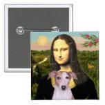 Mona Lisa - Whippet (#7 light red) Button