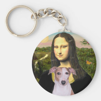 Mona Lisa - Whippet (#7 light red) Keychain
