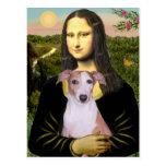 Mona Lisa - Whippet (#7 light red) Postcard