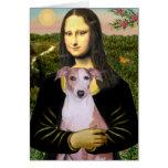 Mona Lisa - Whippet (#7 rojos claros) Felicitación