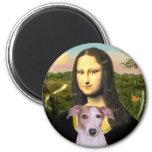 Mona Lisa - Whippet (#7 rojos claros) Imanes Para Frigoríficos