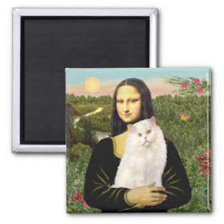 Mona Lisa - White Persian Cat 13 Magnet
