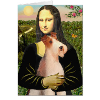 Mona Lisa - Wire Fox T (4) Greeting Cards