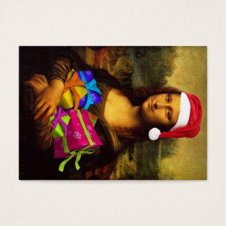 Mona Lisa Wishing Merry Christmas Business Card