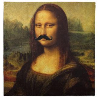 Mona Lisa With Big Mustache Napkin