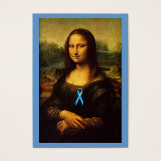 Mona Lisa With Blue Ribbon Business Card