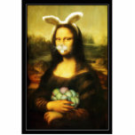 Mona Lisa With Bunny Ears & Whiskers Cut Out