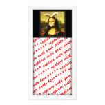 Mona Lisa With Bunny Ears & Whiskers Customized Photo Card