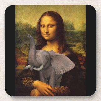 Mona Lisa With Elephant Coaster
