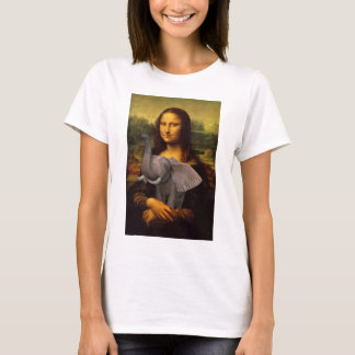 Mona Lisa With Elephant T-Shirt