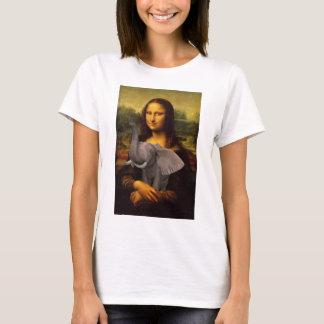 Mona Lisa With Elephant T-Shirt