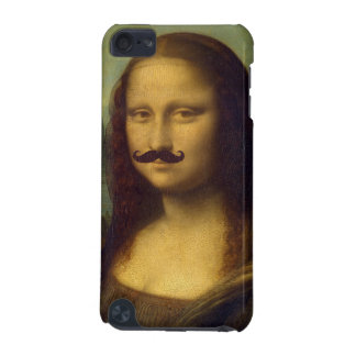 Mona Lisa with Funny Mustache Painting Pattern iPod Touch (5th Generation) Cover