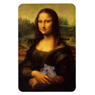 Mona Lisa With Hamster Magnet