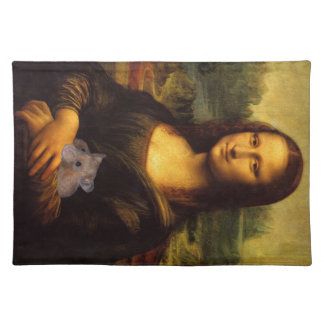 Mona Lisa With Hamster Placemat