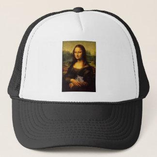 Mona Lisa With Hamster Trucker Hat