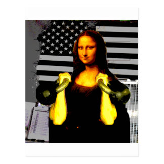 Mona Lisa with KettleBells Postcard