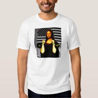 Mona Lisa with KettleBells T-shirt