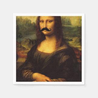 Mona Lisa With Moustache Standard Cocktail Napkin