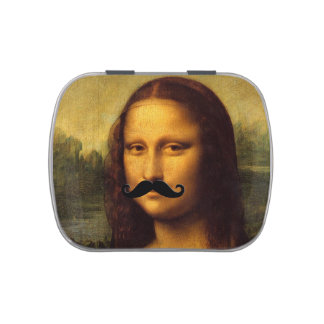 Mona Lisa With Mustache Candy Tin