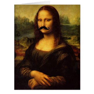 Mona Lisa With Mustache Card