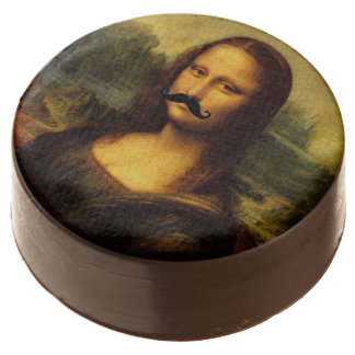 Mona Lisa With Mustache Chocolate Dipped Oreo