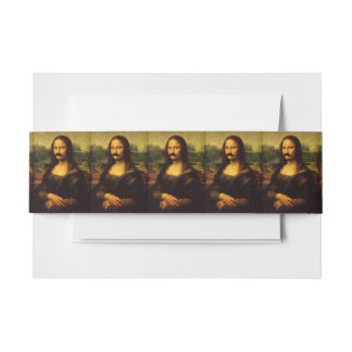 Mona Lisa With Mustache Invitation Belly Band