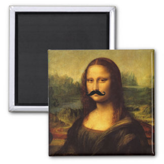 Mona Lisa With Mustache Magnet