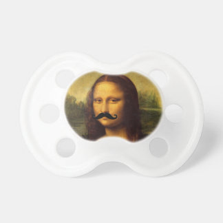 Mona Lisa With Mustache Baby Pacifier