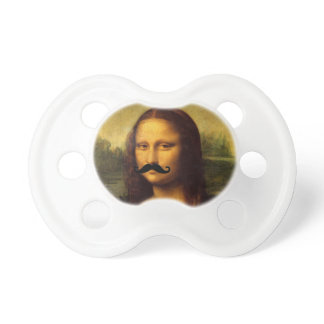 Mona Lisa With Mustache Pacifier