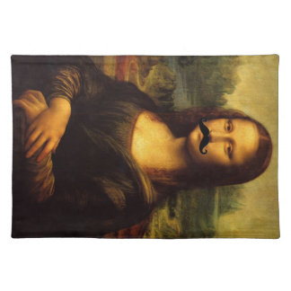 Mona Lisa With Mustache Placemat