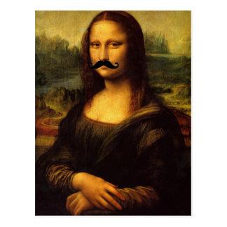 Mona Lisa With Mustache Postcard