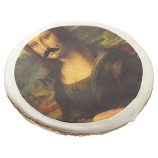 Mona Lisa With Mustache Sugar Cookie