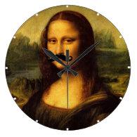 Mona Lisa With Mustache Wallclock