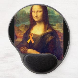Mona Lisa With Orange Ribbon Gel Mouse Pad