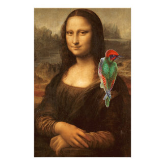 Mona Lisa With Parrot Stationery