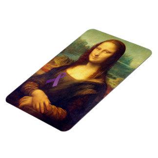 Mona Lisa With Purple Ribbon Magnet