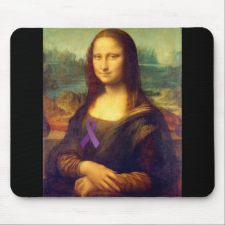 Mona Lisa With Purple Ribbon Mouse Pad