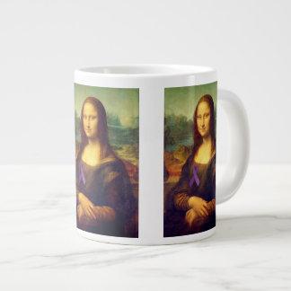 Mona Lisa With Purple Ribbon Jumbo Mug