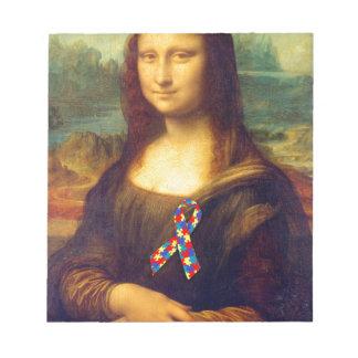 Mona Lisa With Puzzle Ribbon Notepad
