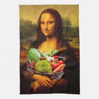 Mona Lisa With Vegetables Kitchen Towel
