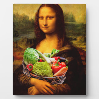 Mona Lisa With Vegetables Plaque