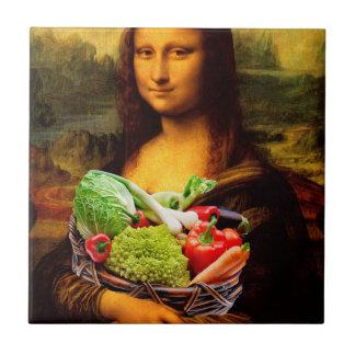Mona Lisa With Vegetables Tile