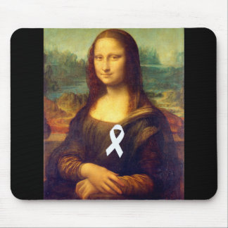 Mona Lisa With White Ribbon Mouse Pad