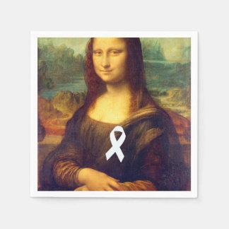 Mona Lisa With White Ribbon Paper Napkin