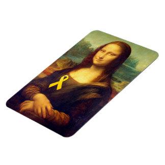 Mona Lisa With Yellow Ribbon Magnet