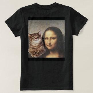 Mona Lisa y gato PAL Playera