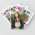Mona Lisa y perro de aguas de Bretaña Baraja Cartas De Poker