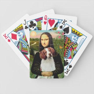 Mona Lisa y perro de aguas de Bretaña Cartas De Juego