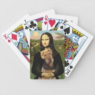 Mona Lisa y su Airedale (#1) Cartas De Juego